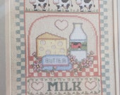 "Cross Stitch Kit, A Counted Cross Stitch Kit by Bernat No. H04129, Named ""Milk"", Country Home Decor"