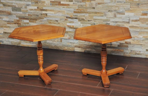 Brilliant Sale Pair Cushman Colonial End Tables Cushman Colonial Creations Antique Hexagon Low End Tables Ocoug Best Dining Table And Chair Ideas Images Ocougorg