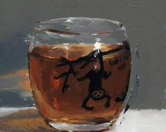 The Shot, Original Oil Painting