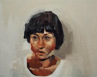 The Hidden II, Original Oil Painting