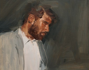 The Guide, Original Oil Painting