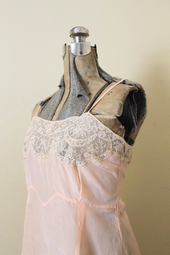 Reserved 1930s Nightgown / 1930s Pale Peach Pink … - image 2