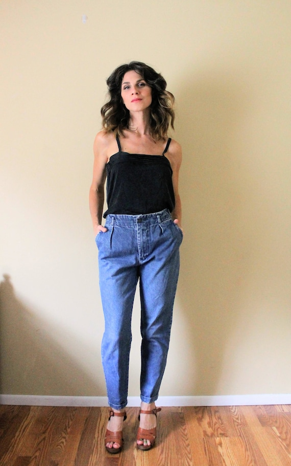 1990s Cropped Jeans / 1990s 90s Mom Jeans / 1990s… - image 3