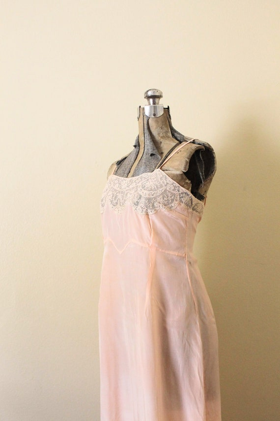 Reserved 1930s Nightgown / 1930s Pale Peach Pink … - image 5
