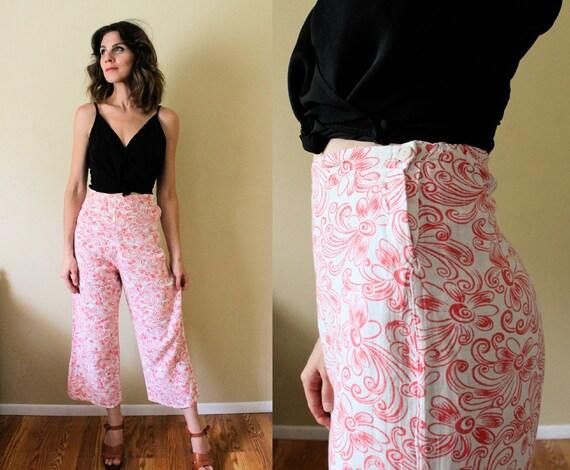 1930s Lounge Pants / 1930s Beach Pajamas Pants / 1