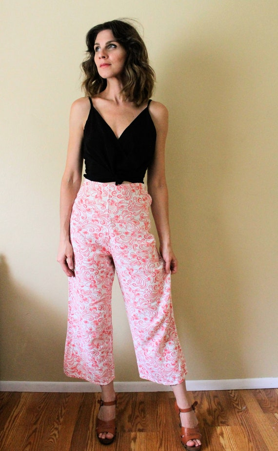 1930s Lounge Pants / 1930s Beach Pajamas Pants / … - image 2