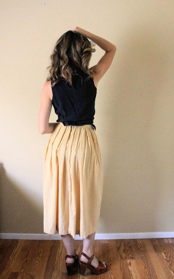 Vintage Button Up Gauze Skirt / 1990s Skirt / 90s… - image 7