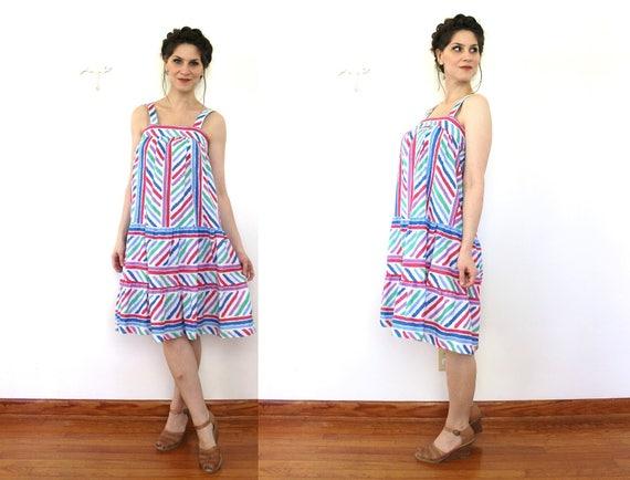 e61be9c880d Vintage Sundress   1980s Sun Dress   1970s 80s Colorful