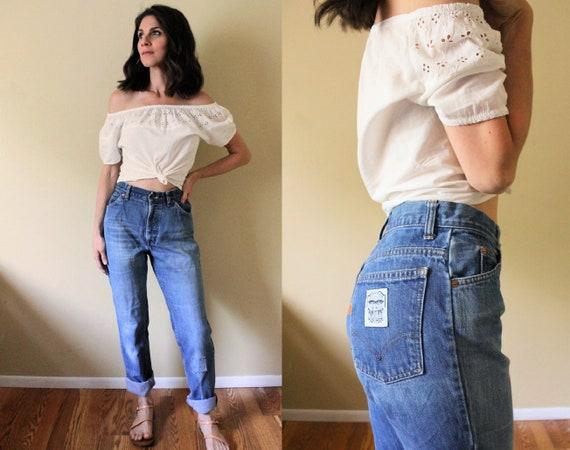1970s Levis Denim Jeans / 70s High Waisted Levis B