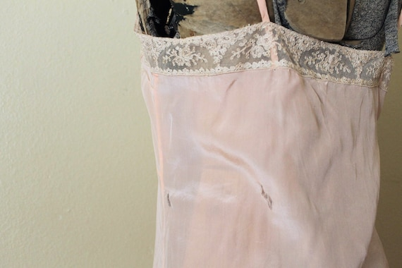 Reserved 1930s Nightgown / 1930s Pale Peach Pink … - image 8