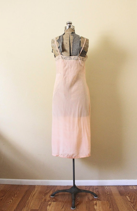Reserved 1930s Nightgown / 1930s Pale Peach Pink … - image 4