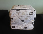 Beverly)Singer Featherweight 221 Sewing Machine Cover in Singer Fabric