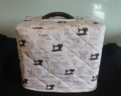 Singer Featherweight 221 Sewing Machine Custom Handmade Case Cover in Singer Fabric