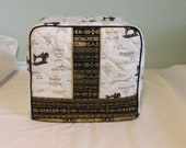 GoldieFW)Singer Featherweight 221 Sewing Machine Cover in Singer Fabric