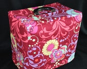 Singer Featherweight 221 Sewing Machine Custom Handmade Case Cover in Amy Butler Fabric