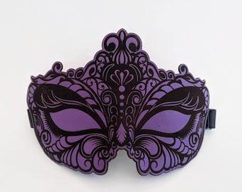 NEW  Blindfold Blackout Laser Etched Leather Eye mask Sleep mask Kismask Sexy Bdsm eyes wide shut masquerade