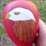 Large Shamans Rattle - Eagle Totem - Free Shipping