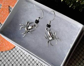 Black Widow Spider Earrings,Spider Earrings