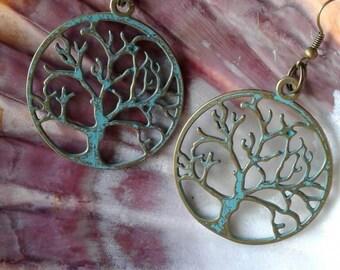 Tree Earrings,Tree of life earrings,Large earrings