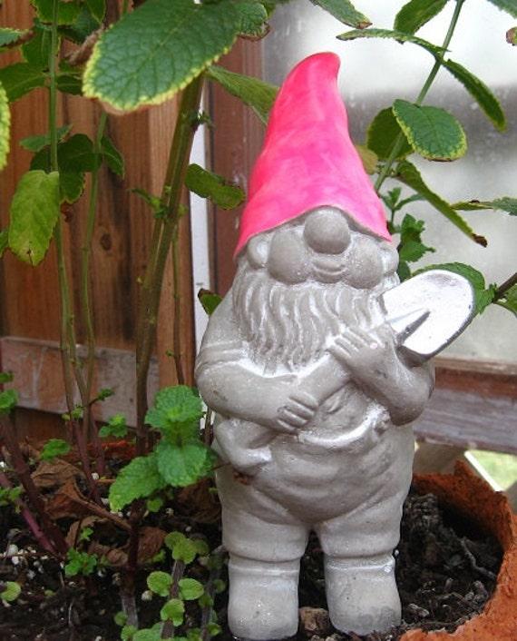 Gnome Garden: Concrete Gnome Statue / Fairy Garden Decor