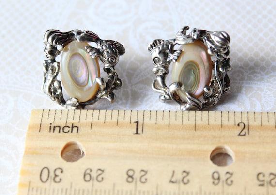 Rare Vintage Mermaid Earrings - image 5