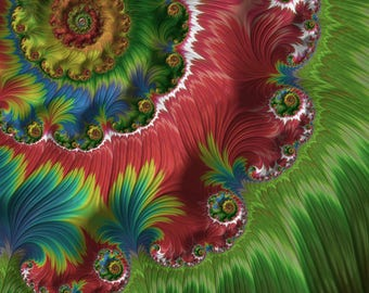 Spring's Return - fractal wall art - fine art print for home or office - colorful fractal art wall decor - made to order