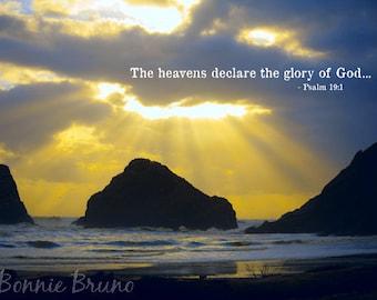 The Heavens Declare - 8x10 Fine Art Photo Print - oregon coast photography - affordable home decor