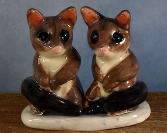 possum wedding cake topper, Australian pottery by Anita Reay AnitaReayArt ceramic  figurine Australian wedding cake topper