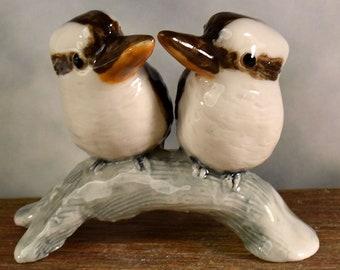rustic Cake topper kookaburra figurine, garden wedding cake topper by Anita Reay AnitaReayArt ceramic bird figurine Australian cake topper