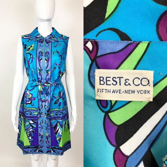 Vintage 60s Best & Co. Psychedelic Print Shift Dre