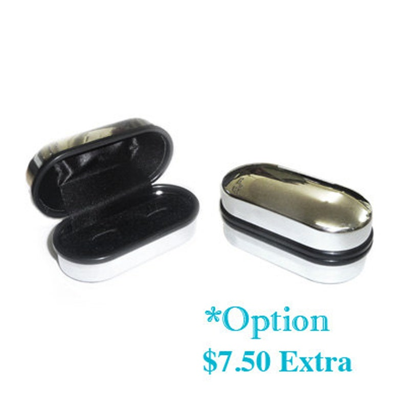 - Unique Gift FREE U.S Reverse Sides FREE Silver Cufflink Box A 5b1 Genuine Coin Cuff Links - Three Pence Shipping BRITISH