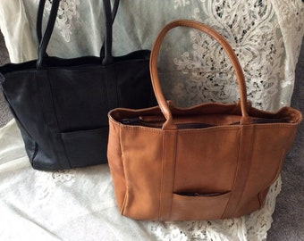9140d22164 FURTHER REDUCTION Two Leather Latico Tote Bags Made in Columbia