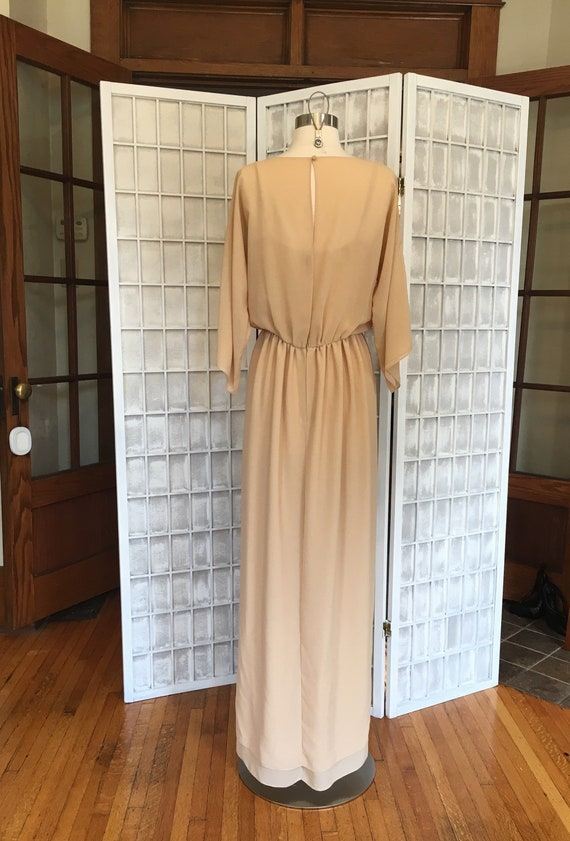 1970s Embroidered Disco Maxi Dress - image 4