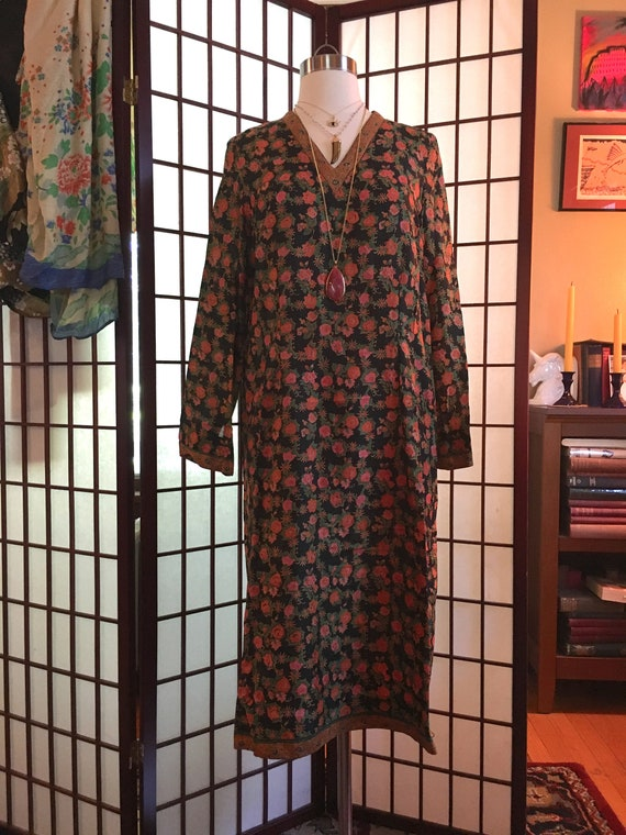 1960s Indian Silk Tunic Dress
