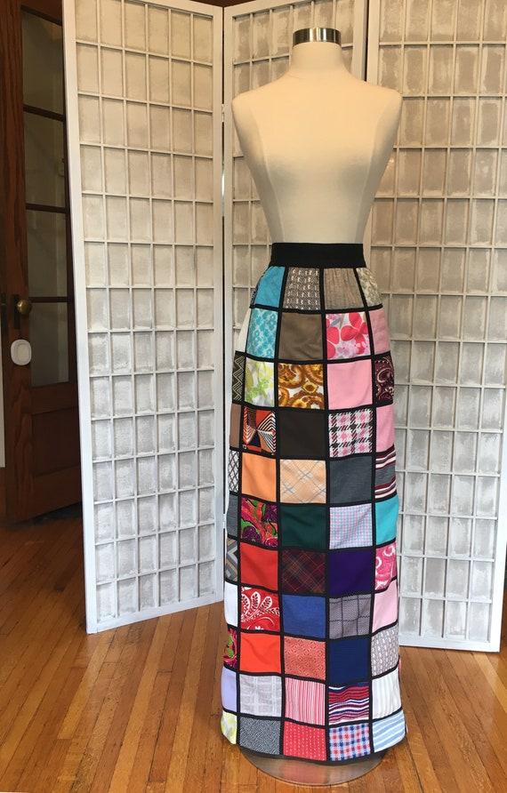 1960s Avant Garde Patchwork Maxi Skirt