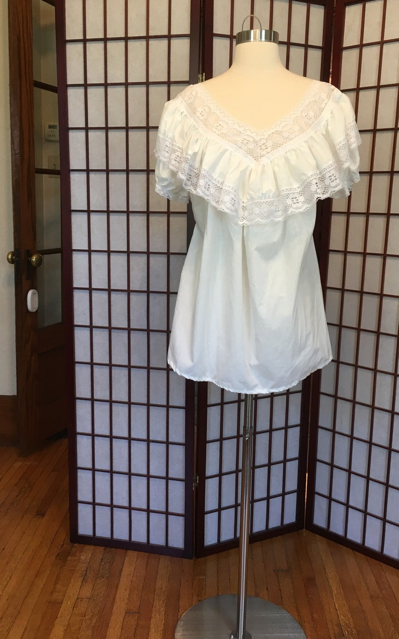 1970s Mexican Ruffle Blouse