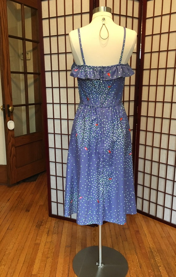 1960s Malia Lavender Ruffle Dress - image 2
