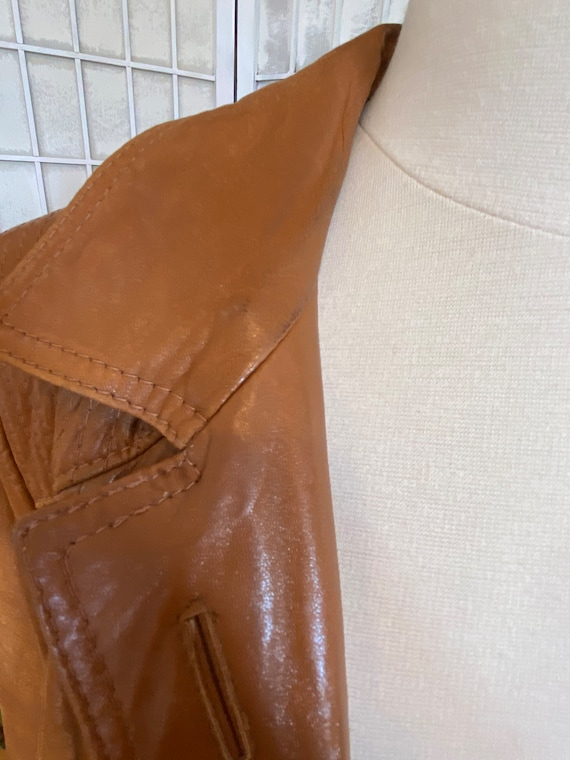1970s Butter-Soft Brown Leather Trench Coat - image 8