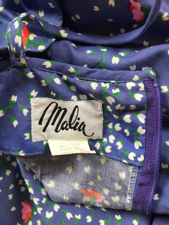 1960s Malia Lavender Ruffle Dress - image 6
