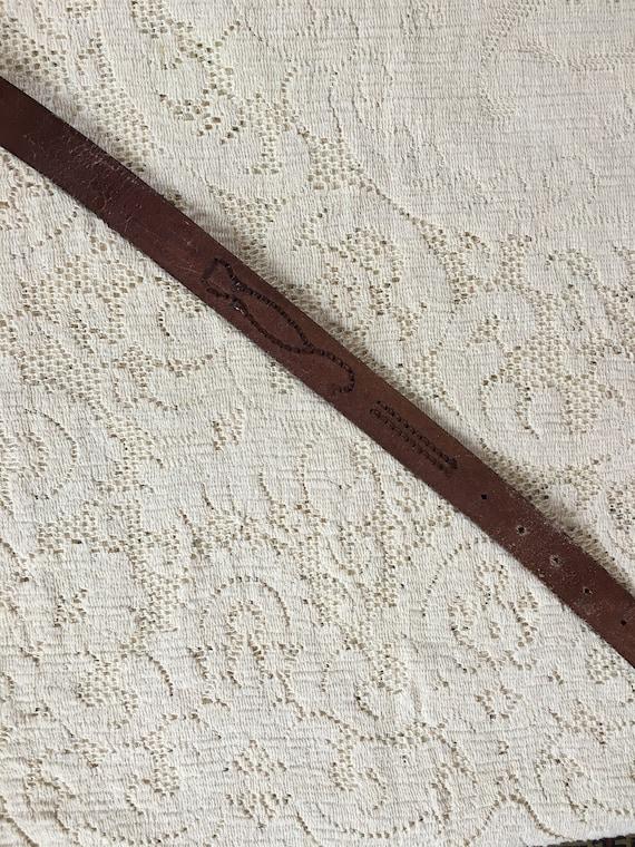 1960s Tooled Leather Scorpion Belt - image 7