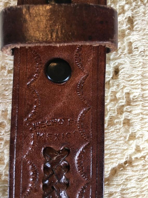 1960s Tooled Leather Scorpion Belt - image 5