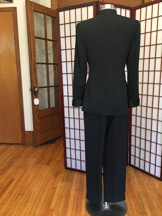 1980s Albert Nipon Women's Tuxedo Suit - image 4