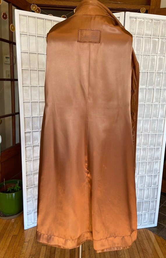 1970s Butter-Soft Brown Leather Trench Coat - image 10