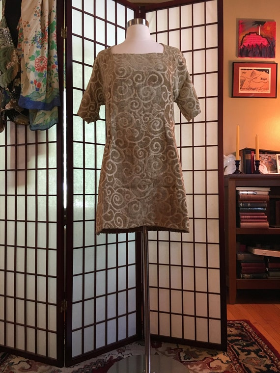 1960s Chenille Mini Dress
