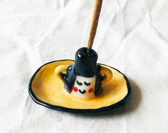 Soya Handmade Ceramic Incense + Flower holder, handmade ceramic incense holder, ceramic flower holder