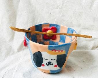 Yuki Cereal + Noodle Handmade Ceramic Bowl, One of the kind mug, handmade bowl, ceramic bowl, unique bowl