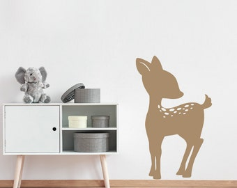 Fawn Wall Decal - Deer wall art - Woodland Decor - Kids Bedroom Nursery