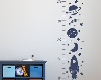 More colors. Rocket Growth Chart Decal ... & Rocket wall decal | Etsy