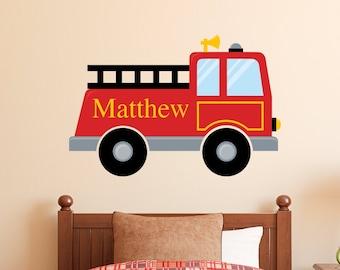Wall Tattoo Fire Brigade-MEN Wall Sticker Nursery Playroom Boys uss281