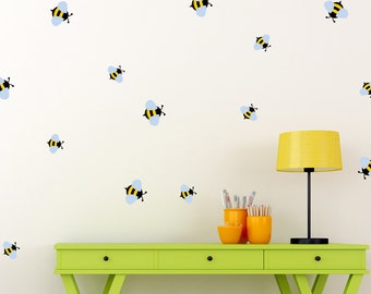 Bees Wall Decal Etsy